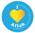 I Love Allah Badge (5 pk)