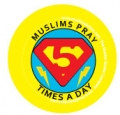 Muslims Pray 5 Times a Day (5 Badges)