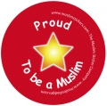 Proud to be a Muslim Badges (red-5pk)